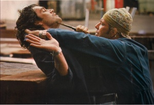 "Jeff and Mickey Rourke in ""Heart Condition""."